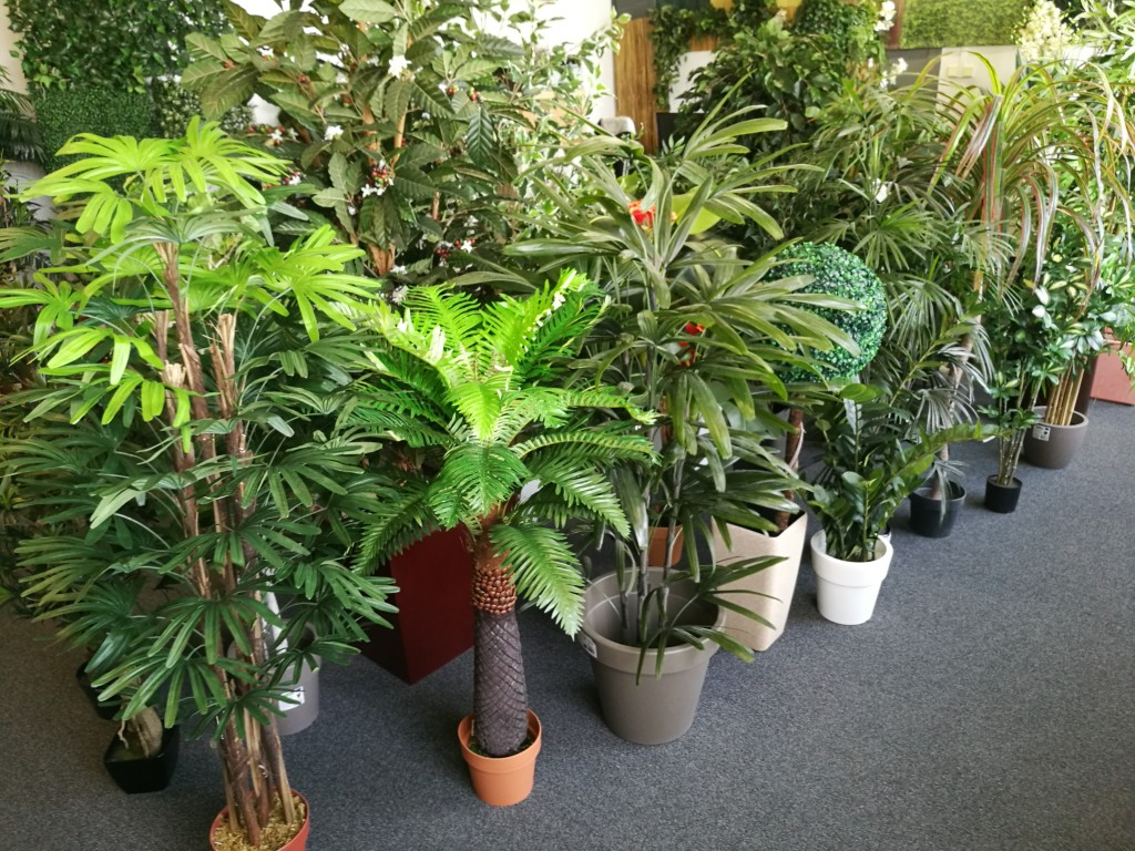 showroom umelé rostliny a zelené stěny