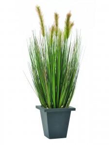 umělé trávy a rákosy jako živé