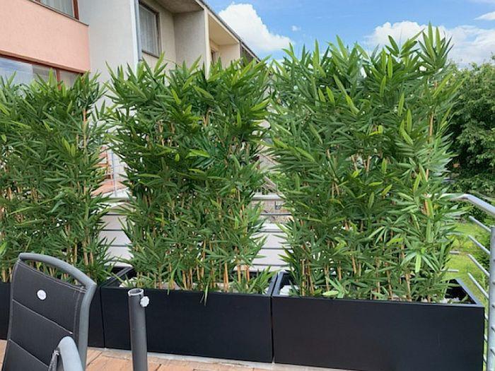 umělý bambusový plot